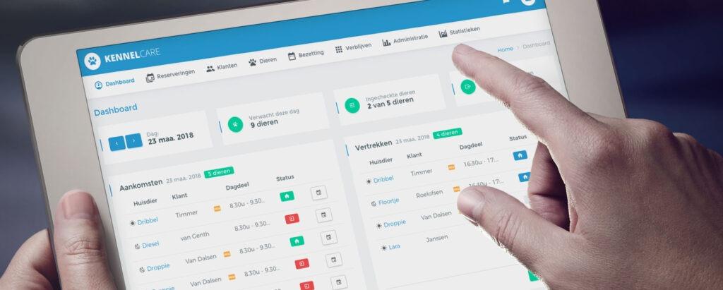 Dashboard - zie direct de aankomsten, vertrekken en activiteiten van vandaag