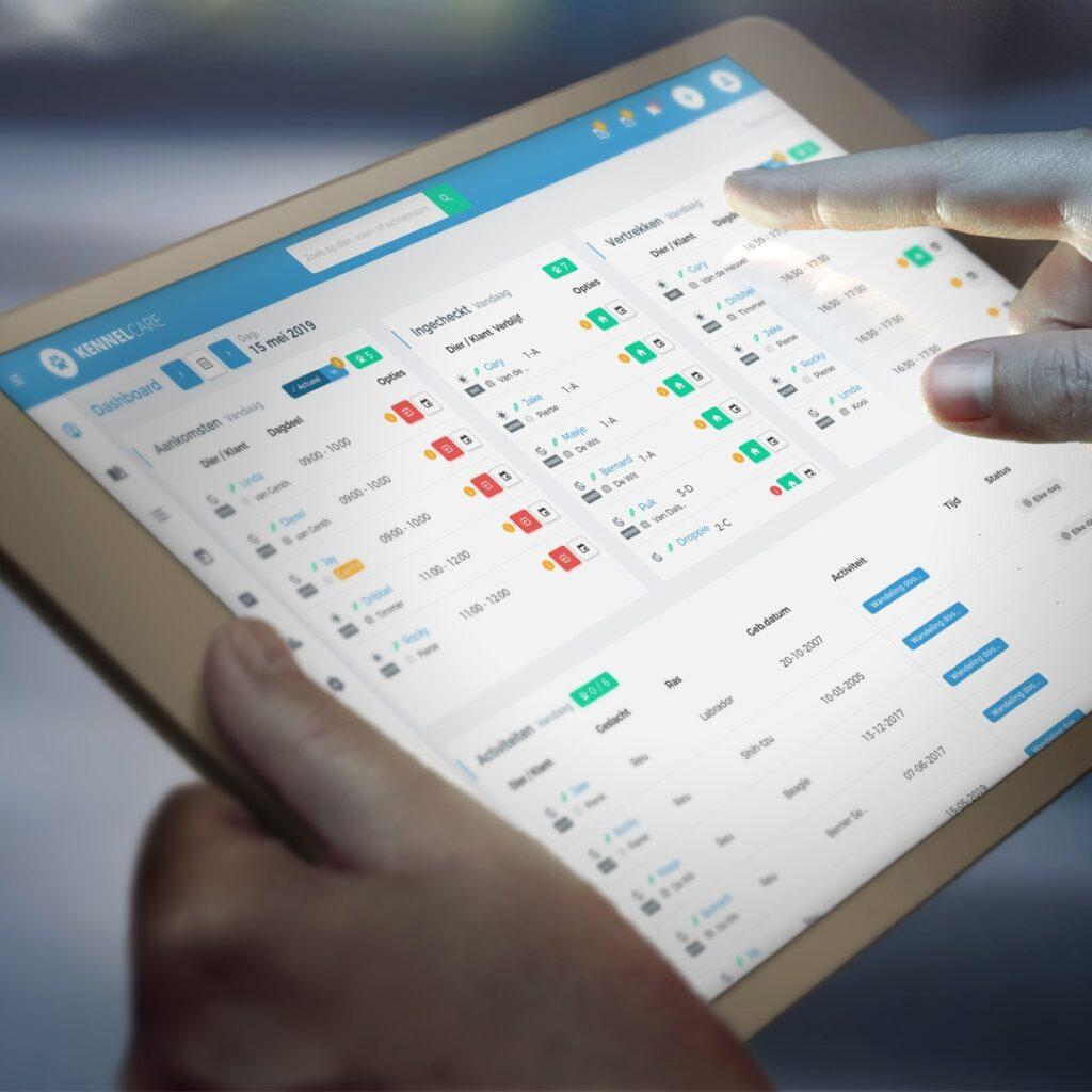 KennelCare dashboard online boekingssysteem