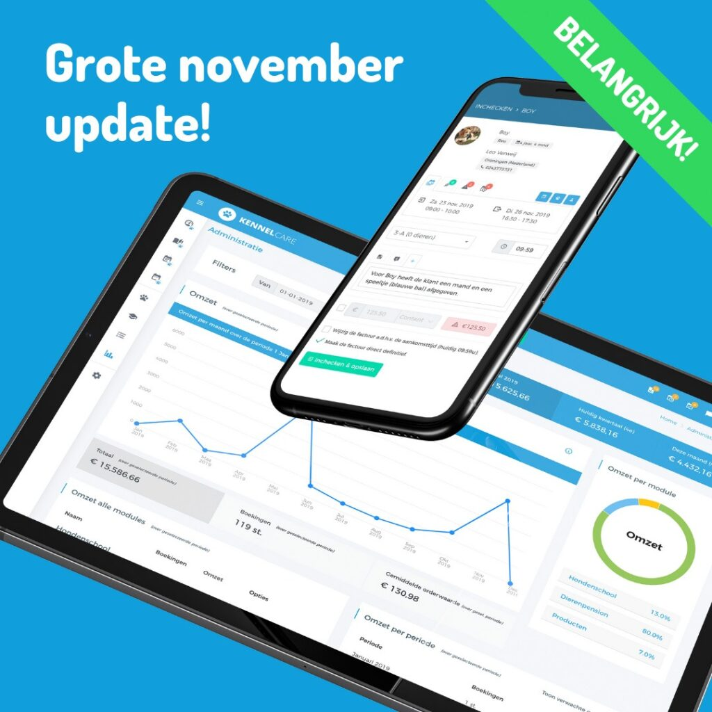 KennelCare grote november update